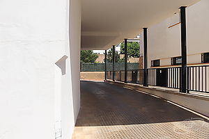 Parking in the center of Calella